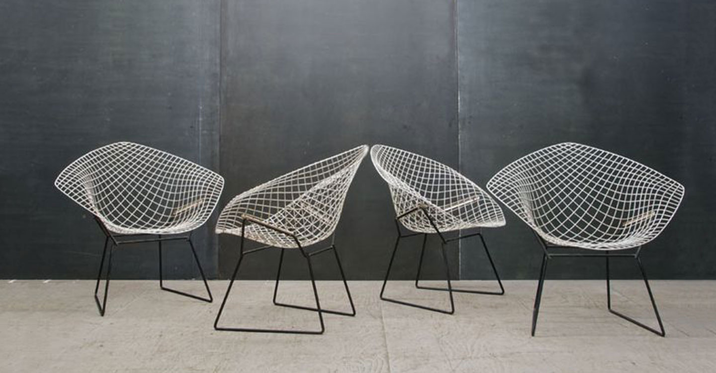 Bertoia diamond chair vintage - Susie Cropper Interiors Harry Bertoia Diamond Chair